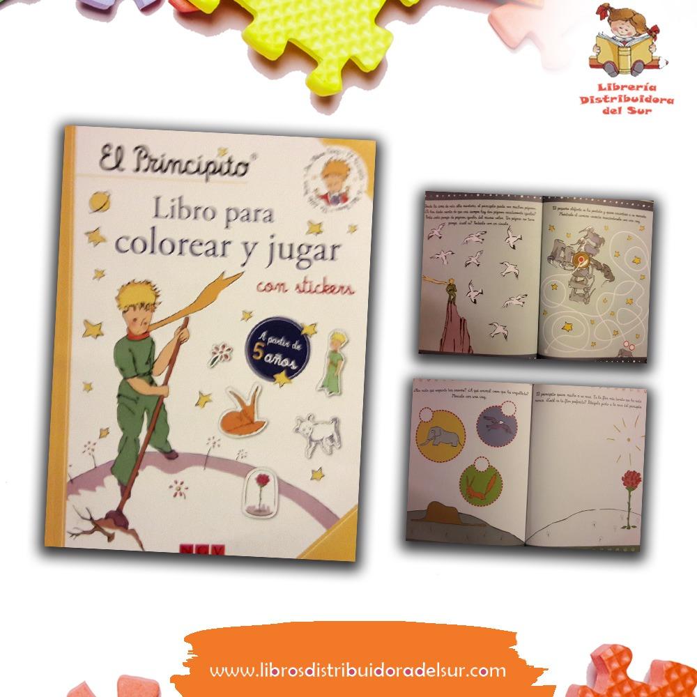 Colección El Principito Libro Para Colorear Y Jugar Con Stickers
